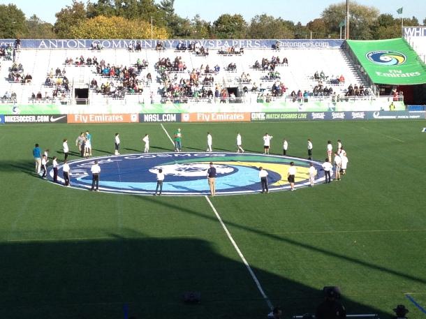 Cosmos Logo On Schuart Stadium Before The Match!