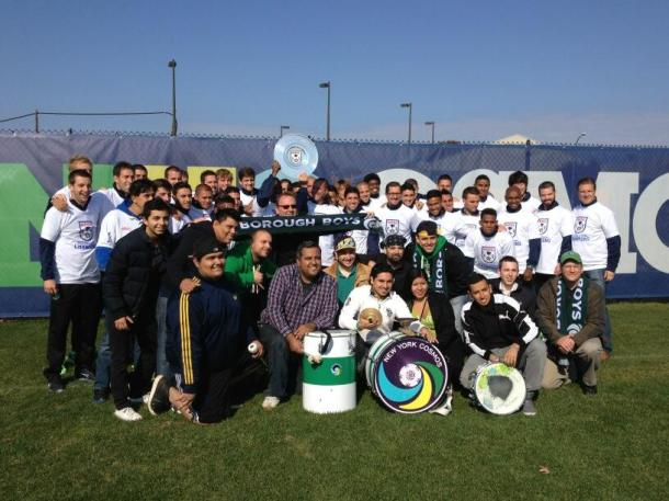 NY Cosmos Fans Join The Team On Trophy Day (Photo Courtesy of La Banda Del Cosmos