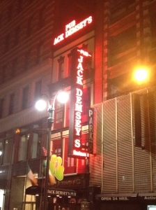 Outside of Jack Demseys Bar