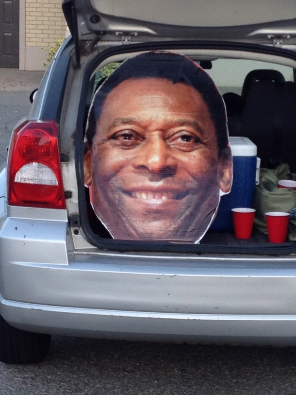 Pele's Head Tailgating Before The Match!