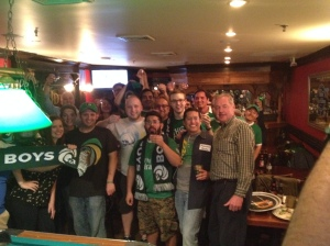 Vinny Front Right With All In Attendance Treating Us To A Shot