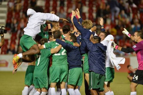 Celebrating Their 2013 Fall NASL Victory!  (photo courtesy of This Is Cosmos Country)