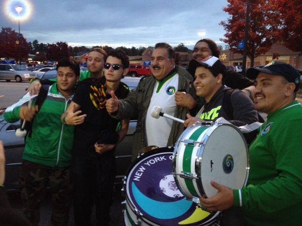 "Outside of Firebird La Banda members With ""Republica Deportiva"" own Fernando Fiore"