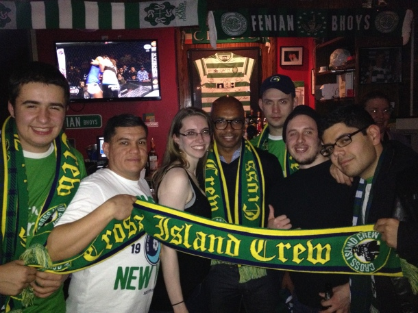 Marcos Senna Endorses The Cross Island Crew and Their Cause! Photo by cosmossoccerfan