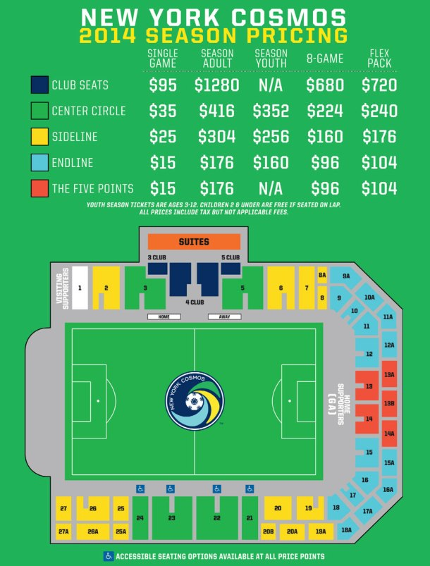 Get Your NY Cosmos Season Tickets Or Even Just Single Game Tickets Today!