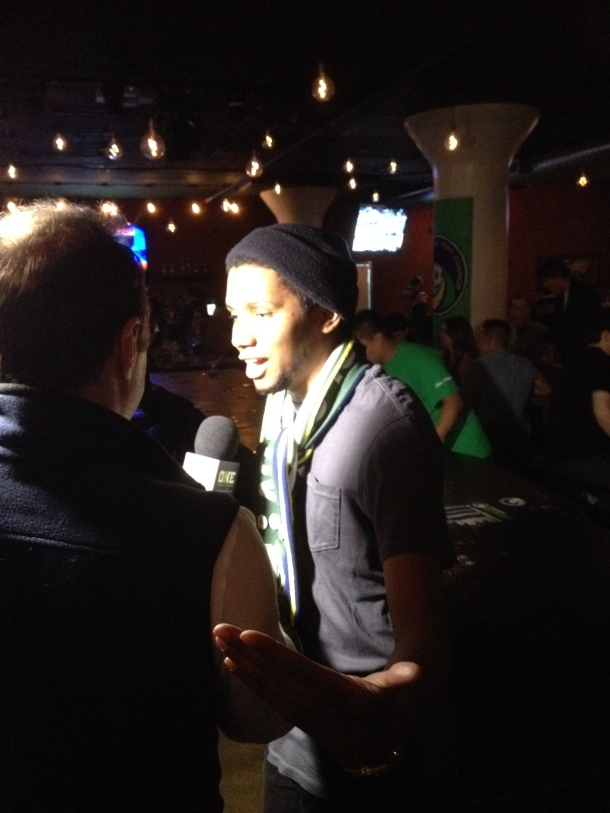 """Anthony """"Prez"""" Speaking To ONE World Sports about the Borough Boys Photo Credit - www.cosmossoccerfan.com"""