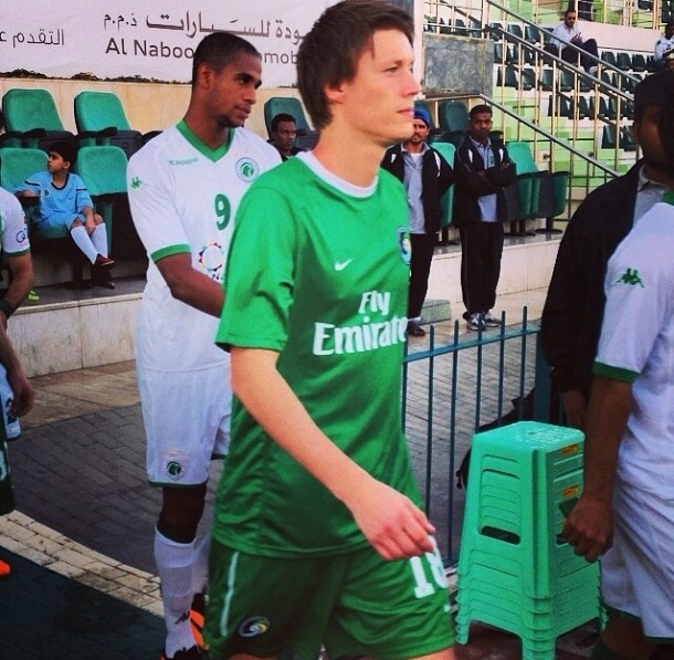 Mads Stokkelien takes to the pitch for the first time as a member of the NY Cosmos - photo credit - NY Cosmos