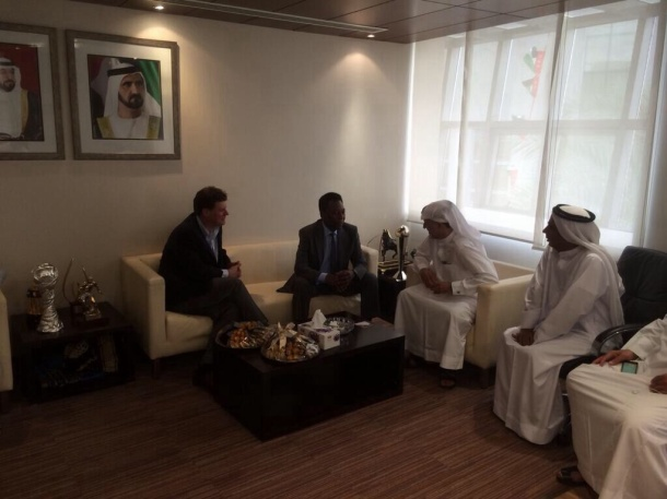 Seamus O'brien and Pele meeting with Emirates leadership on Sunday