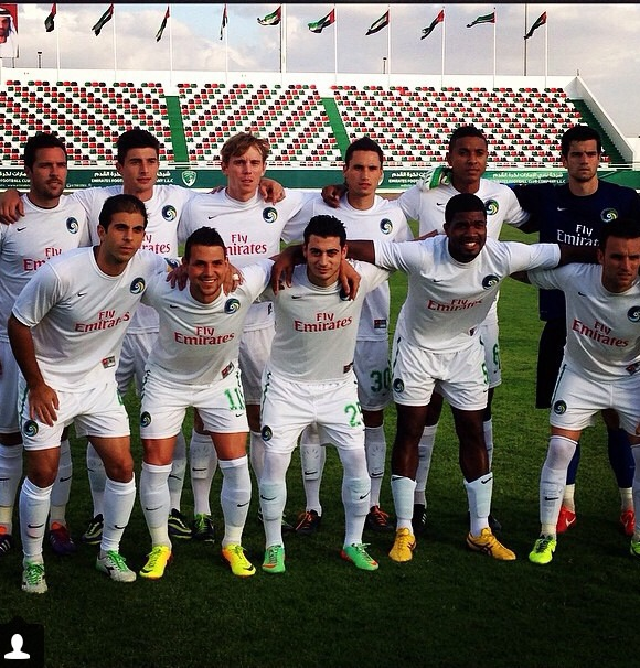 The Cosmos Before Their M arch With Emirates Club - photo courtesy of NY cosmos