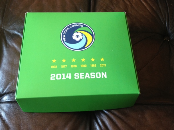 NY Cosmos Season Ticket Box
