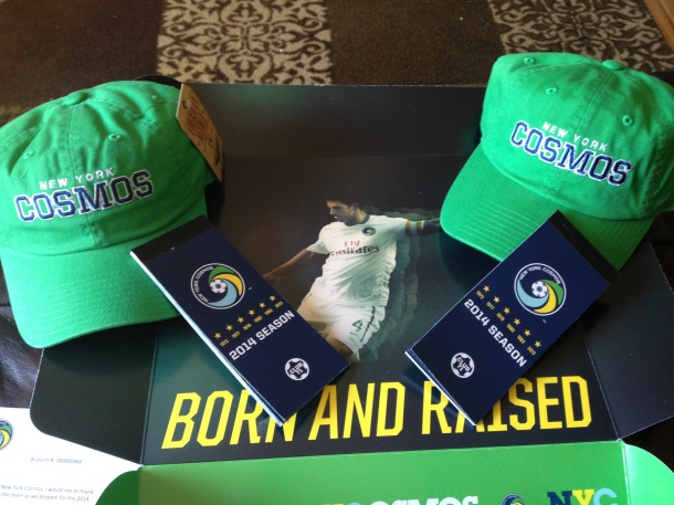 Season Ticket Box & Goodies - photo by www.cosmossoccerfan.com