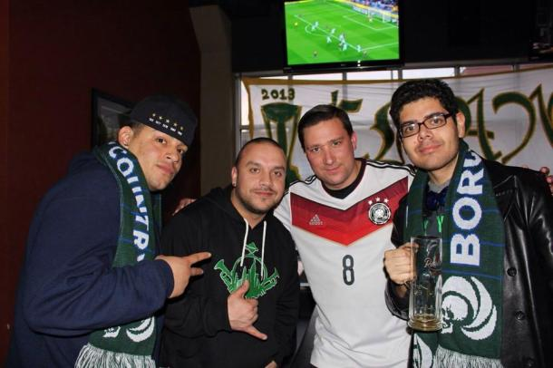 Zach, Jay, Matt & Bryan representing La Banda Del Cosmos & Borough Boys! Photo Credit - Eytan Calderon