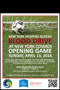 NY Hospital Of Queens Will Be Hosting A Blood Drive Sunday Before The Opener!