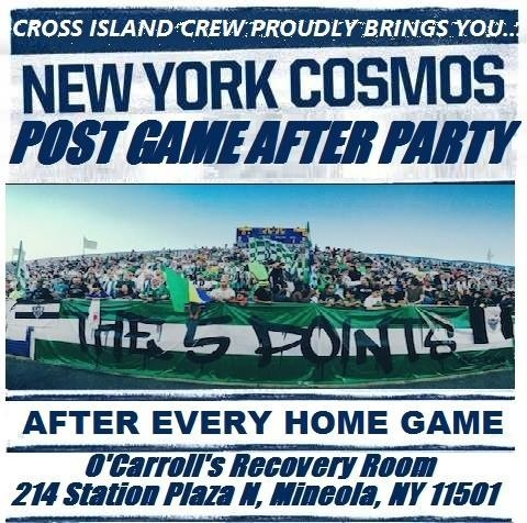 Join the Cross Island crew for a NY cosmos home match after party!