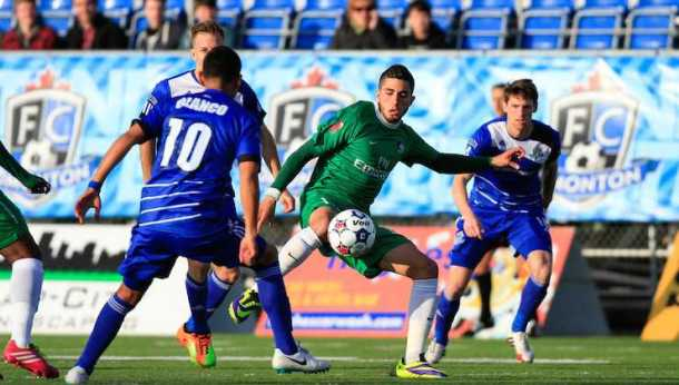 Sebastian Guenzatti scored the only goal of the match on an assist from Mads Stokkelien -  Photo Credit - NY Cosmos
