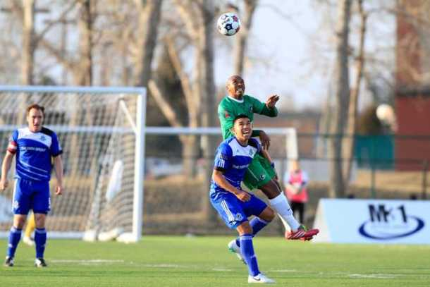 Senna Fighting For The Ball In A Defensive Battle Against FC Edmonton!