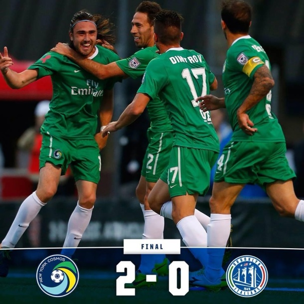 Cosmos Are Triumphant Over The Brooklyn Italians! Photo Courtesy of the NY Cosmos