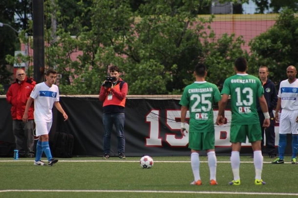 Chirishian & Guenzatti brace for a Brooklyn Free Kick Photo credit - Eytan Calderon