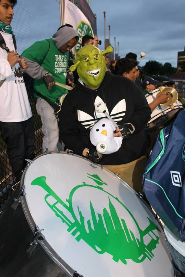 There was a shrek sighting at the match. Photo credit - Eytan Calderon