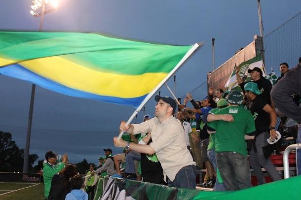 Borough boys Antonio waving the colors proudly. Photo credit - Eytan Calderon