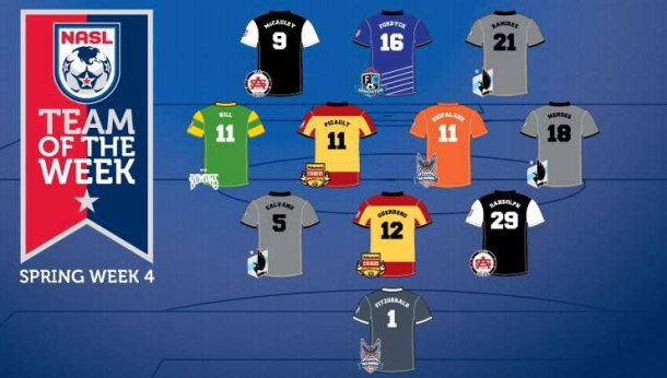 NASL team of week 4! Photo credit - www.nasl.com