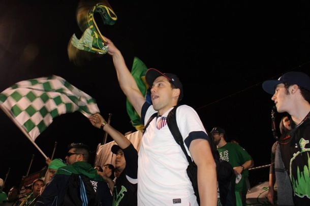 A/O Long Island lending their voices supporting the Cosmos, Photo credit - Eytan Calderon