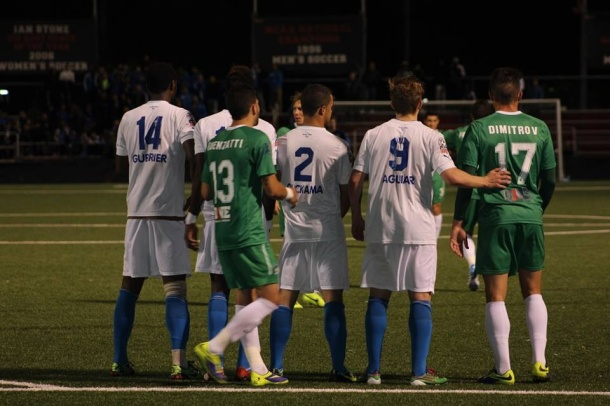Italians and Cosmos battling in the US open cup. Photo credit - Eytan Calderon