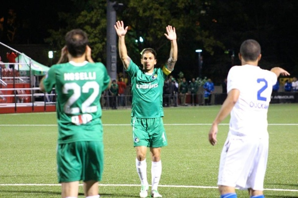 Carlos Mendes directing traffic on defense. Photo credit - Eytan Calderon
