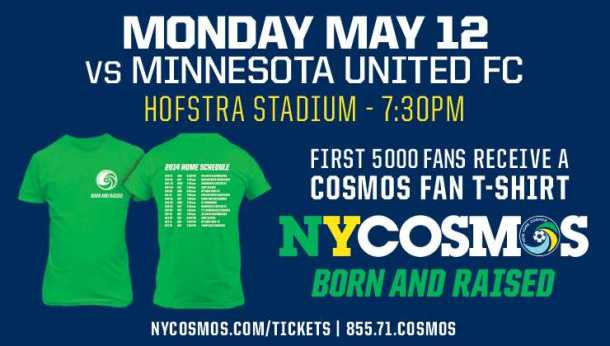 Come on out to Schuart stadium this Monday night to watch the Cosmos battle Minnesota United!