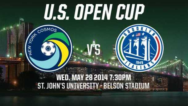 Cosmos Start Play In The US Open Cup Wednesday Against The Brooklyn Italians!