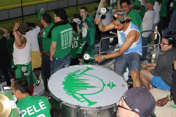 La Banda Del Cosmos Bringing The Noise Against Minnesota United  (Picture Credit - Eytan Caldeon)