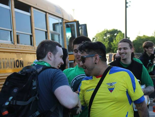 Cosmos Fans Are Ready To Board The Bus To Philadelphia For The Fifth Round Of The US Open Cup-  Photo Credit - Eytan Calderon