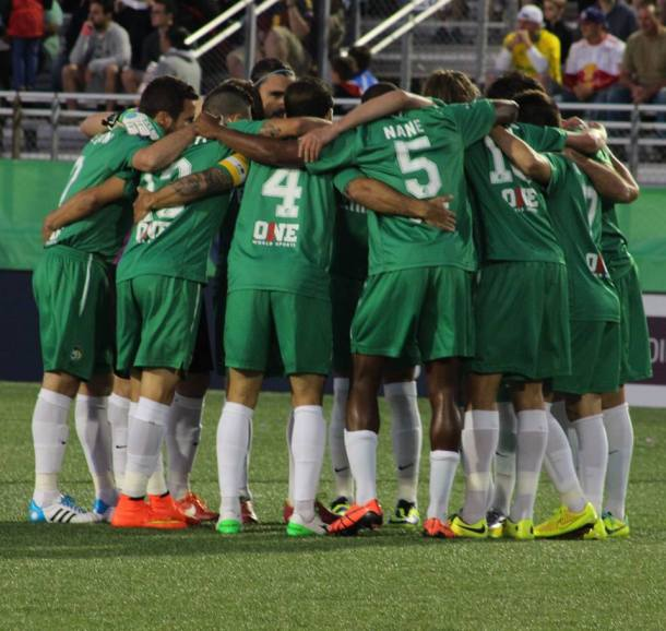 Cosmos Team Huddle Before The Match- Photo Credit - Eytan Calderon