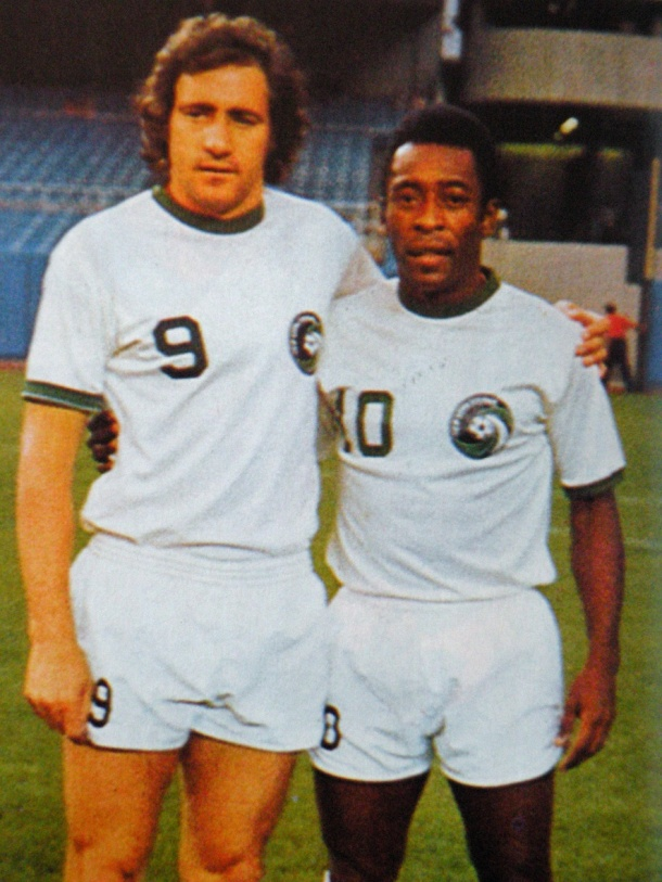 The Cosmos will retire Chinaglia's #9 to join Pele's #10 as the only Cosmos retired jerseys.