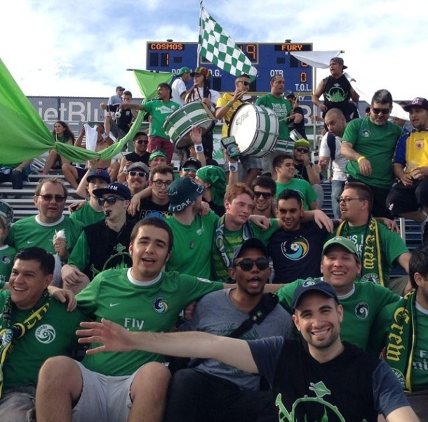 Cosmos Fans In The Five Points Enjoying The Victory On Sunday Photo credit - Danny Vega