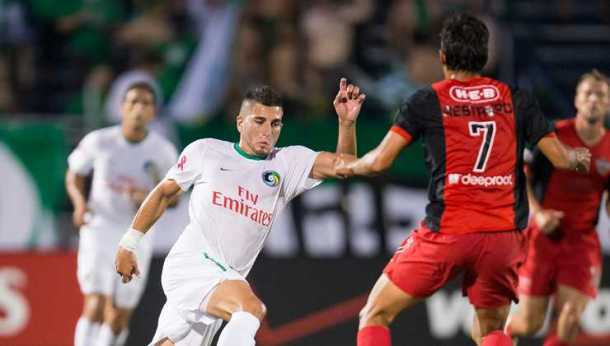 Seba Guenzatti Against The Scorpions On SAturday. Photo Credit - NY Cosmos