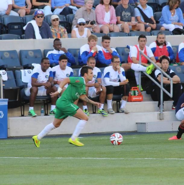 Ayoze Bringing The Ball Up Field! Photo Credit - Eytan Calderon