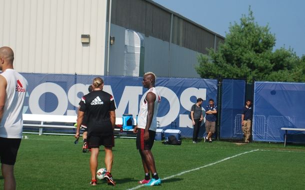 Super Mario receiving instructions before working out. Photo Credit - Cesar Trelles