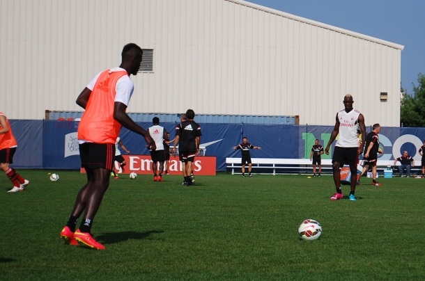 Mario Balotelli During Workout. Photo Credit - Cesar Trelles