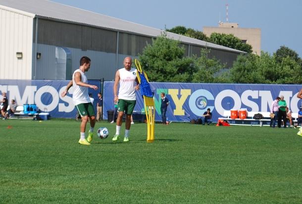 Hans Denissen & Ayoze working out. Photo Credit - Cesar Trelles