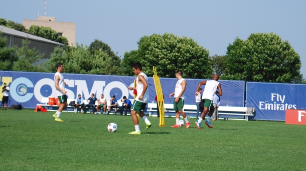 Andres Flores was working out with his new team today! Photo Credit - Cesar Trelles
