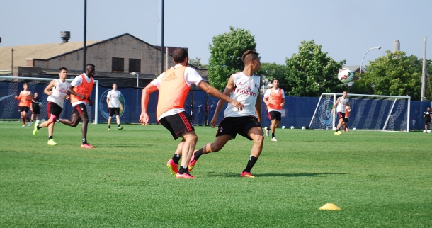 AC Milan workout in full tilt. Photo Credit- Cesar Trelles