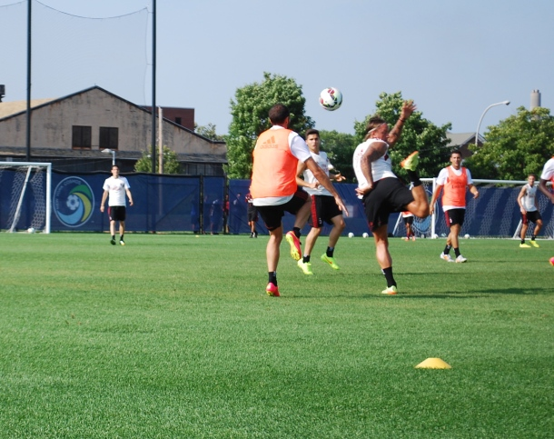 AC Milan PLayers In Full Action. Photo Credit- Cesar Trelles