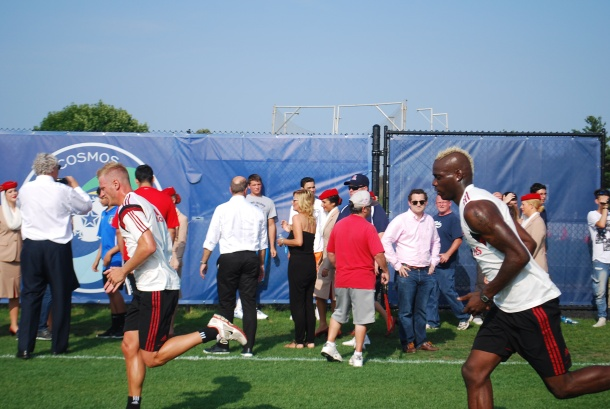 Mario Balotelli doing wind sprints. Photo Credit- Cesar Trelles