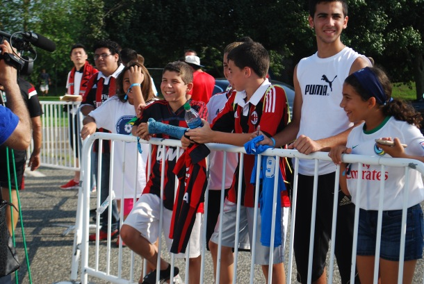 Fans that couldn't get in waited outside the gates to get a glimpse of their favorite players. Photo Credit- Cesar Trelles