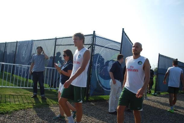 Mads Stokkelien & Hans Denissen After Their Workout. Photo Credit- Cesar Trelles