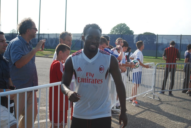 Michael Essien after practice. Photo Credit- Cesar Trelles