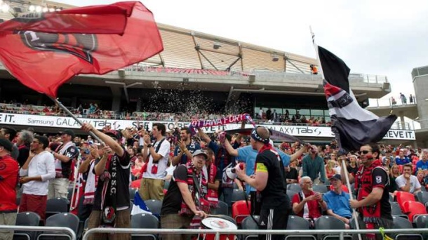 The Ottawa Fury drew in excess of 15,000 on Sunday when they played the NY Cosmos - photo credit - NASL.com
