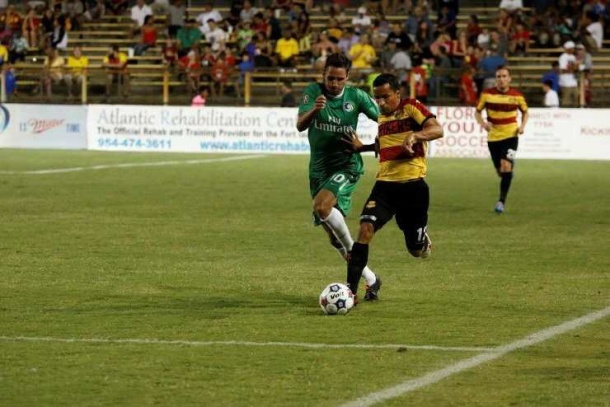 The NY Cosmos head down to Ft. Lauderdale to take on cthe Strikers Saturday night.  Photo credit - NY cosmos