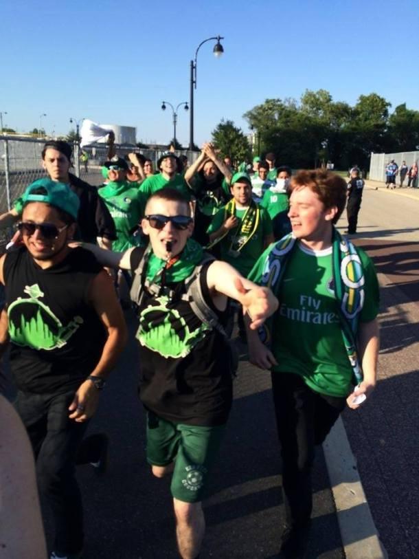 Marching Into The Stadium! Photo Credit - Eytan Calderon